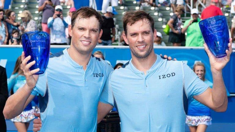 Bob e Mike Bryan vencem em Delray Beach e conquistam juntos o 117.º (!) título da carreira