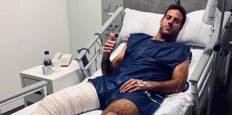 Del Potro vai ser operado ao joelho pela quarta vez: «Ainda quero ir aos Jogos»