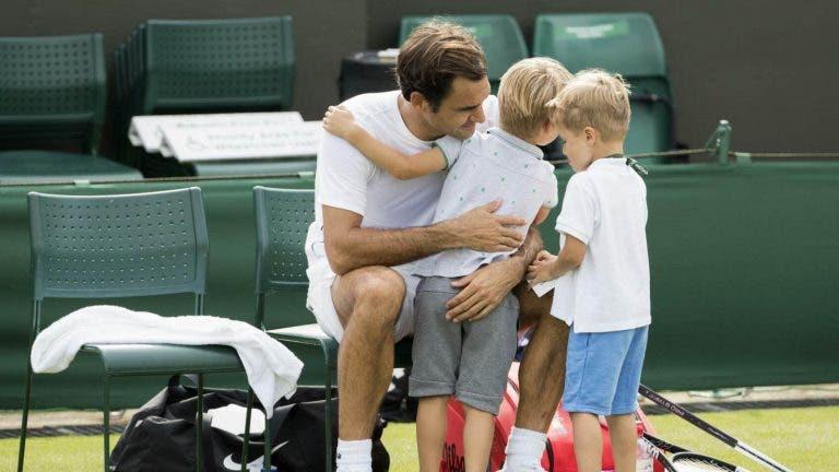 Federer sobre os filhos: «Estão a ficar a um bom nível, já me pedem para ir jogar com eles»