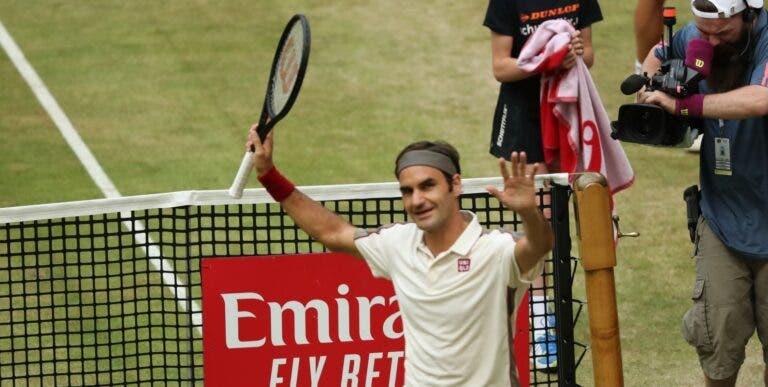 Roger Federer apura-se para a sua 13.ª final em Halle
