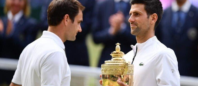 Faz hoje um ano: Djokovic bateu Federer na final de Wimbledon mais longa de sempre
