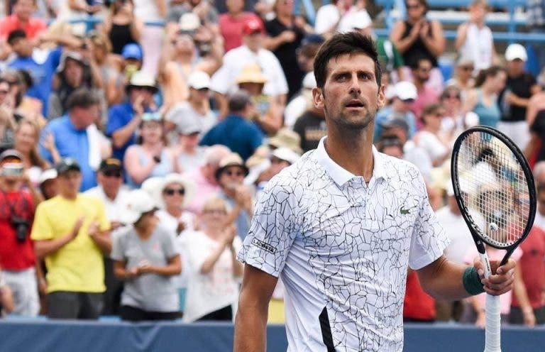 Djokovic em dúvida para as 'meias' em Cincinnati
