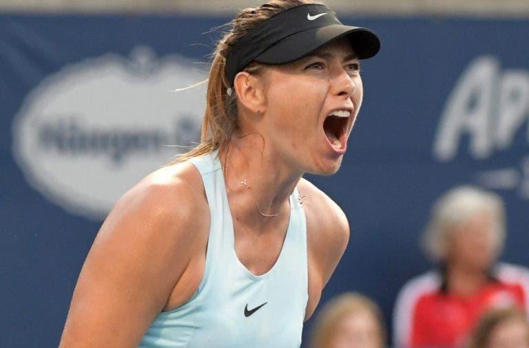 Sharapova: «Dói-me sempre a garganta no fim dos jogos por gritar muito»