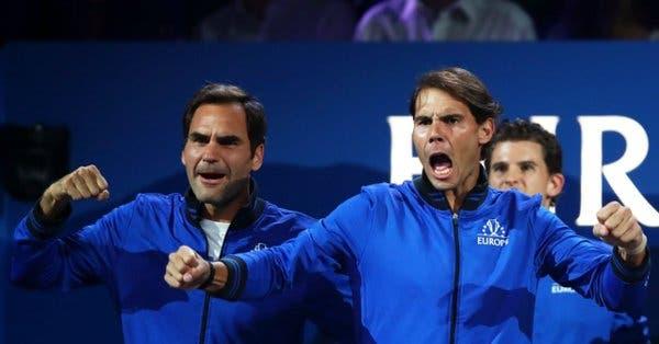Vai mesmo acontecer outra vez? Nadal desafia Federer para jogar pares em 2022