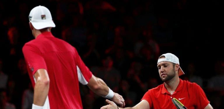 EUROPA 7-8 MUNDO: Sock/Isner batem Federer/Tsitsipas e lideram a Laver Cup