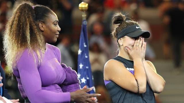 Serena elogia Andreescu e brinca: «Fico feliz por toda a gente que vencer este torneio… tirando a Venus»