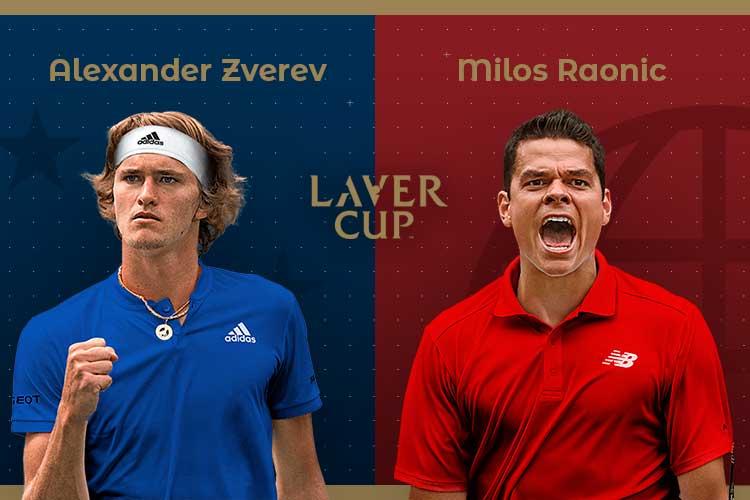 Laver Cup 2019: siga Alexander Zverev vs Milos Raonic no nosso live center