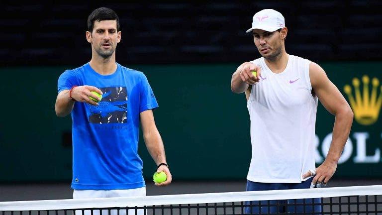 Nadal e Djokovic jogam pares em Indian Wells numa lista de luxo