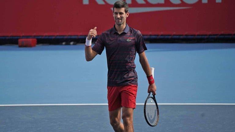 Novak Djokovic segue firme rumo aos 'quartos' em Tóquio