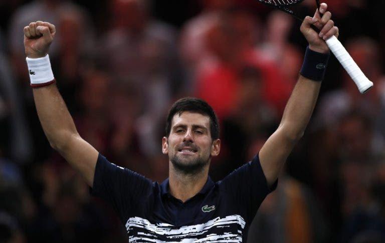 [VÍDEO] O momento em que Djokovic conquistou o quinto título da carreira em Paris-Bercy