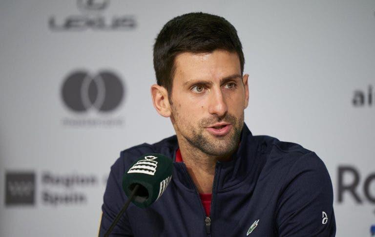 Djokovic: «O que vocês querem ouvir é que só decidi vir quando o Nadal desistiu»