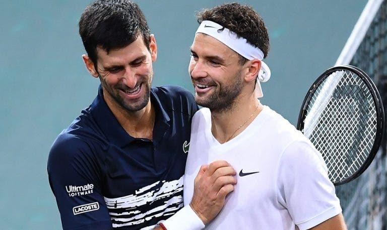 Djokovic elogia Dimitrov: «É muito atlético, às vezes subestimamos o seu físico»