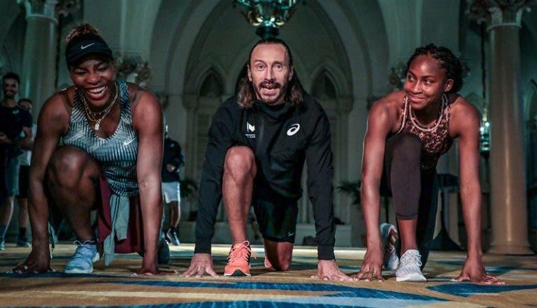 Serena, Gauff, o melhor júnior do Mundo e até um famoso DJ: Mouratoglou inovou num training camp de pré-época