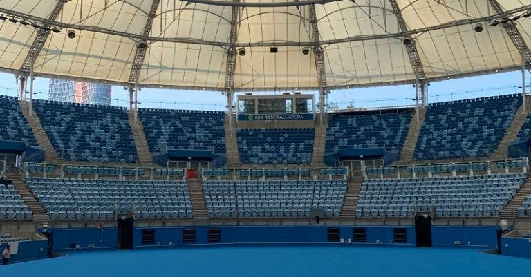 Está feito: court central de Sydney tem nova cara para a ATP Cup