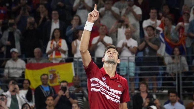 Djokovic e a conquista da ATP Cup: «Foi um dos maiores momentos da minha carreira»