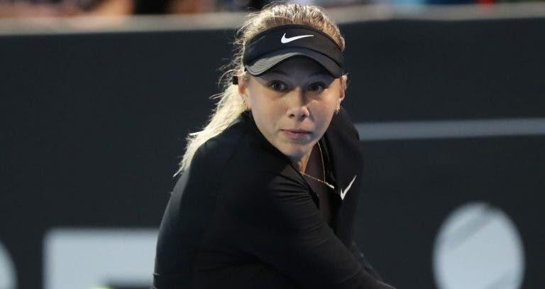 Ainda com Covid-19, Anisimova vai mesmo falhar o Australian Open