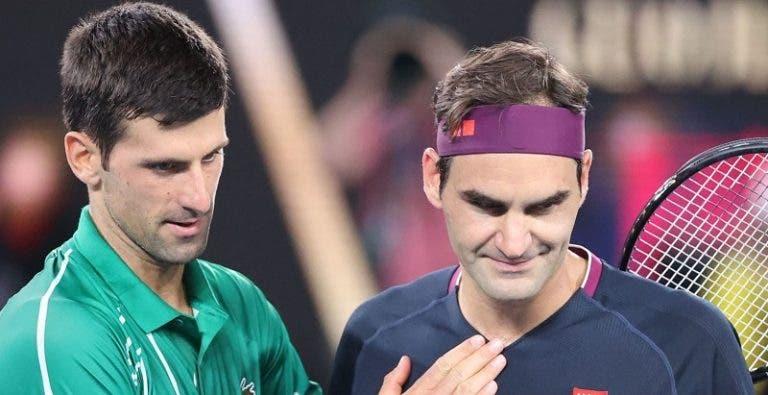 Federer explica o conteúdo da última conversa que teve com Djokovic