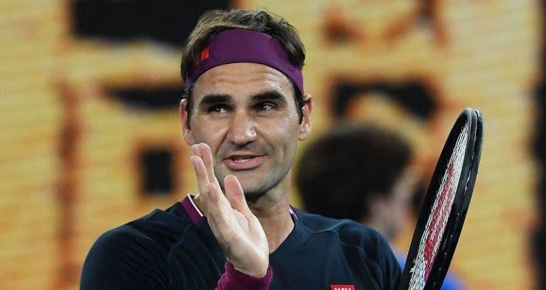 A recuperar da dupla operação ao joelho, Federer já está na fase intensiva do trabalho físico