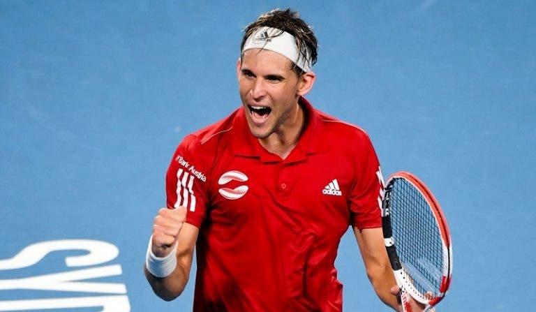 Thiem junta-se a Djokovic e vai jogar a ATP Cup como preparação para o Open da Austrália