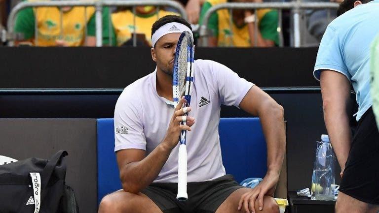 Tsonga é o sétimo jogador da história a desistir em todos os Grand Slams