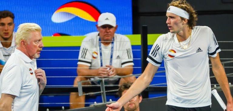 Lamento de Becker: «É pena que Ferrer já não treine Sascha Zverev»