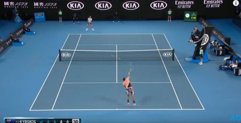 [VÍDEO] Todos os ases de Kyrgios no Australian Open