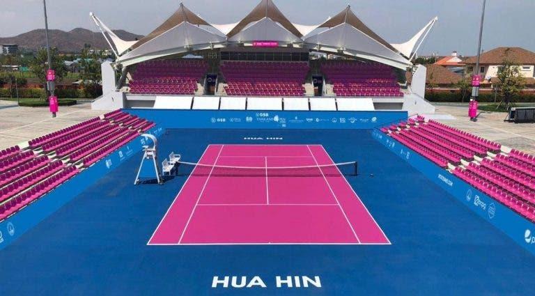 Courts no Tailândia Open serão cor-de-rosa para promover a luta contra o cancro da mama