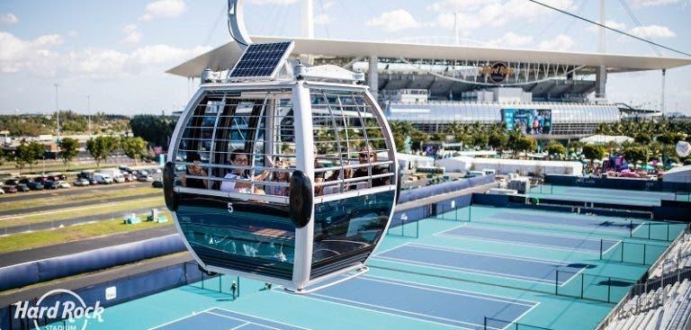 Incrível: espectadores do Miami Open vão poder ver os treinos… de teleférico