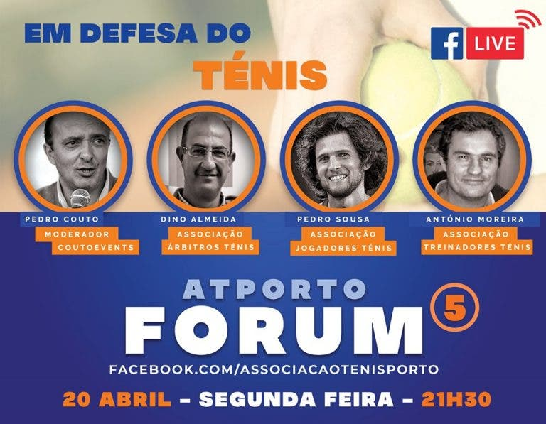 Pedro Sousa discute futuro do ténis no Forum AT Porto na 2.ª feira