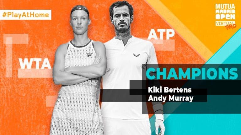 Andy Murray e Kiki Bertens fazem história e vencem primeiro Madrid Open virtual