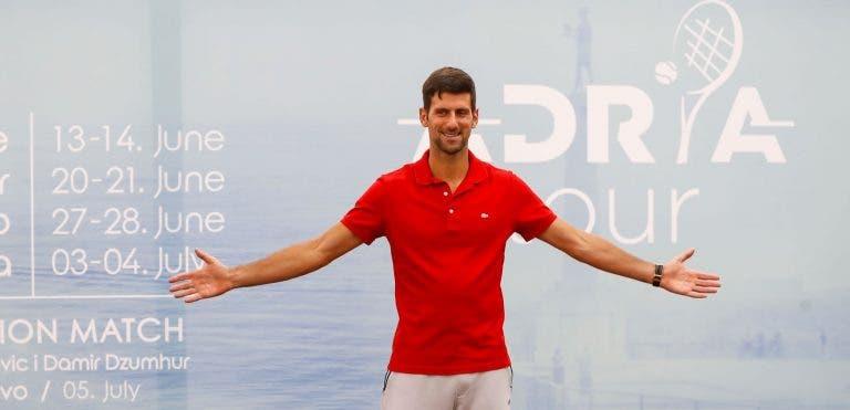 [VÍDEO] Novak Djokovic já prepara 2.ª etapa do Adria Tour