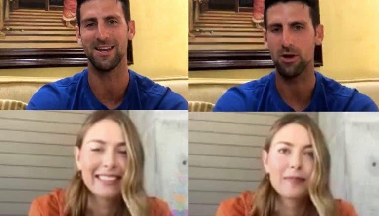Djokovic contou a Sharapova o dia em que jogou de ressaca: «A noite anterior foi louca»