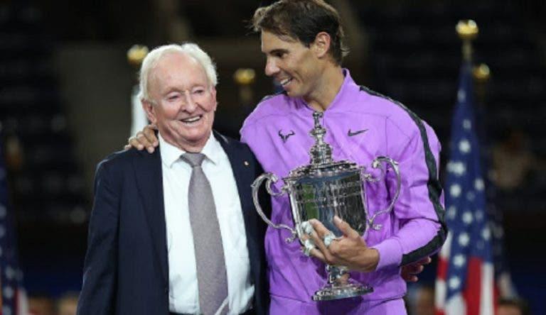 Rod Laver lamenta não ver Nadal em Roland Garros nesta fase do ano