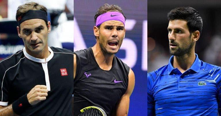 Pelo 19.º ano seguido, um membro do Big 3 vai jogar as 'meias' das ATP Finals