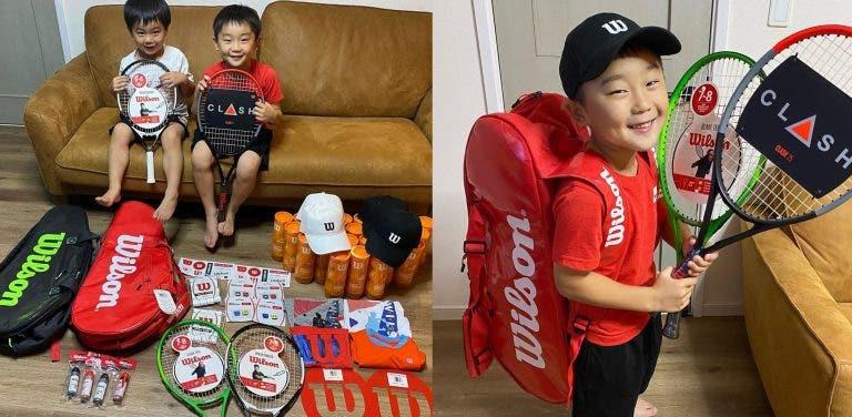 Irmãos de 5 e 6 anos, que se tornaram famosos no Instagram, já tem contrato com a Wilson