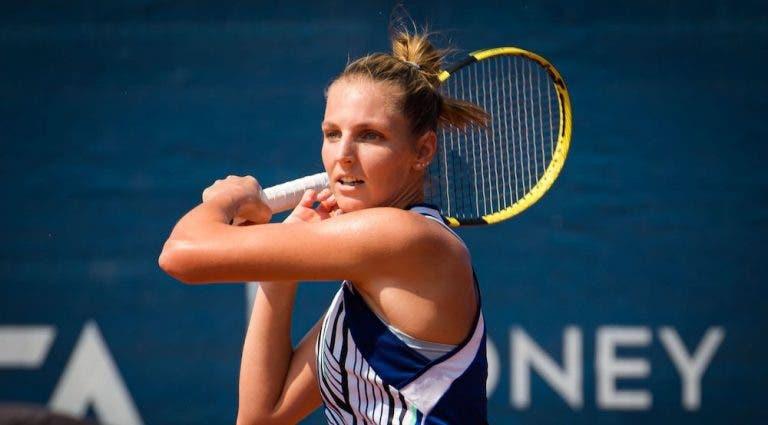 Kristyna Pliskova não entende o uso de máscara no WTA de Praga