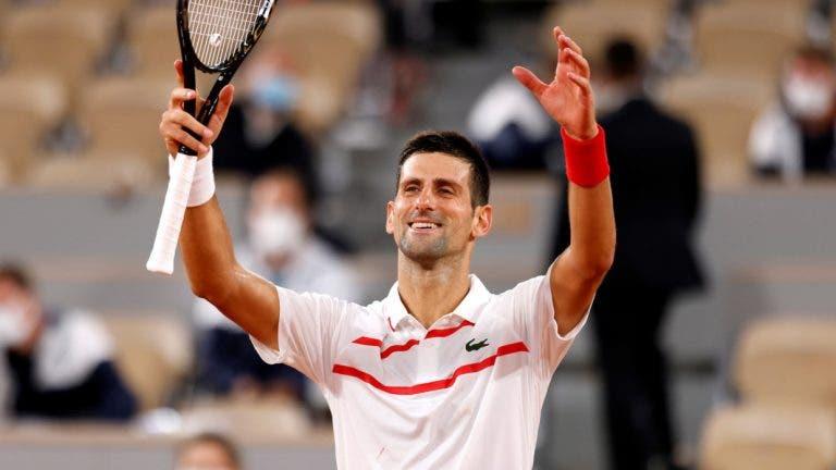 Djokovic: «Tarde para alcançar Federer e Nadal? Se assim fosse, já não jogava ténis»