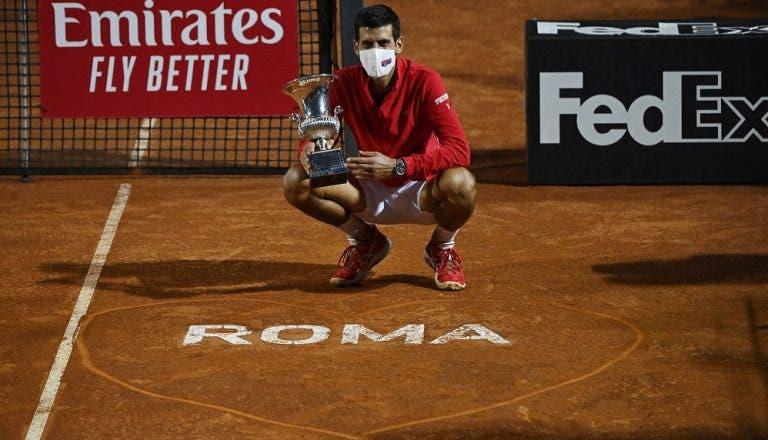 Campeão! Djokovic bate Schwartzman e conquista Roma pela 5ª vez na carreira