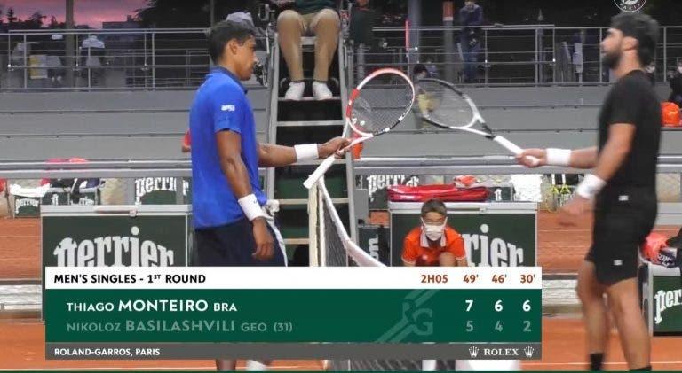 Monteiro despacha top 35 rumo à segunda ronda de Roland Garros
