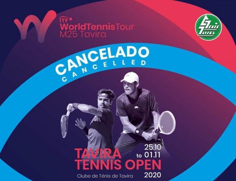 Tavira Tennis Open cancelado devido ao aumento de casos de Covid-19