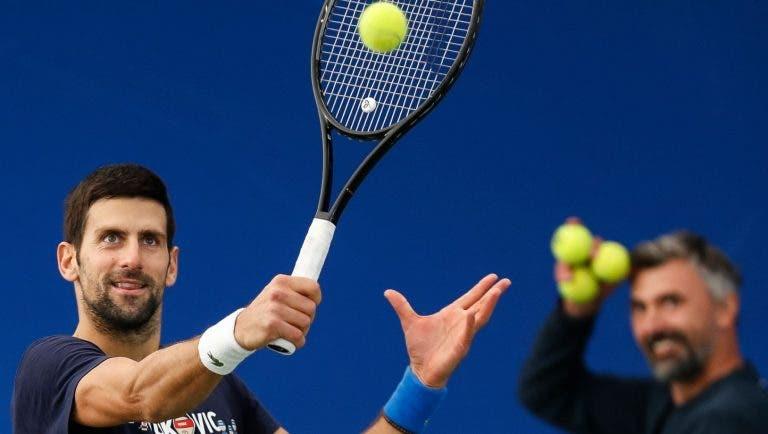 Djokovic abriu o treino em Belgrado e vai levar Ivanisevic e Viena e Londres