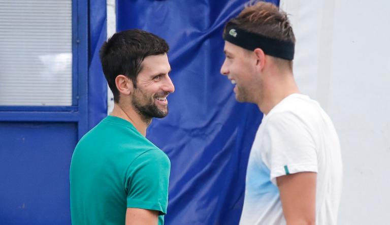 Novak Djokovic chegou ao ATP 500 de Viena e já treina