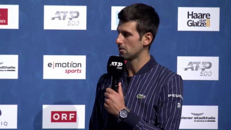 Djokovic feliz com alteração do sistema de ranking: «Espero bater o recorde do Federer em março»