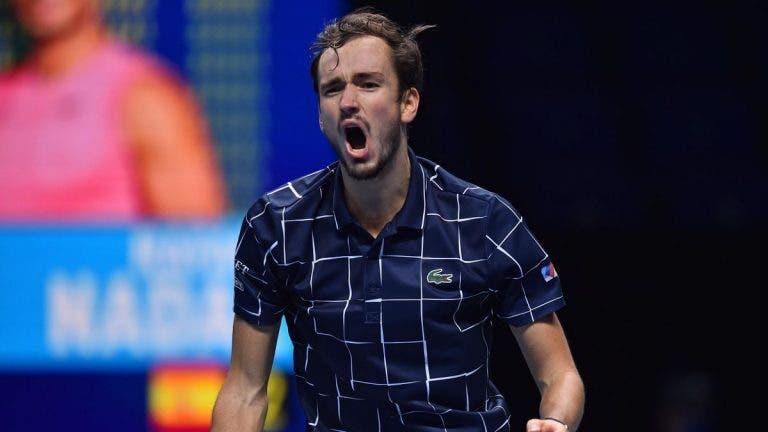 Final entre Thiem e Medvedev foi a mais longa de sempre nas ATP Finals