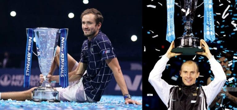 Medvedev 'imitou' Davydenko e lembrou-o no final do encontro