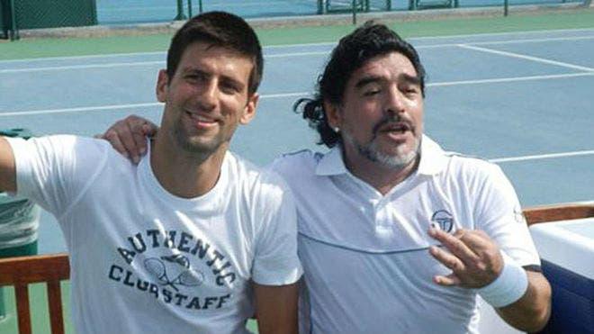 Djokovic também deixou uma mensagem para Maradona