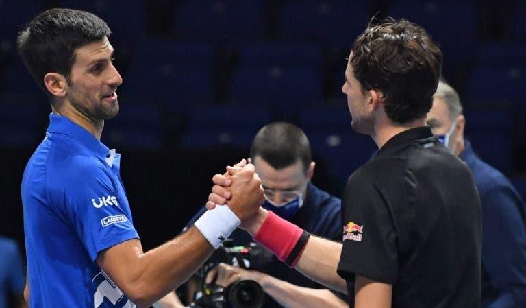 Thiem não tem qualquer dúvida: «Djokovic vai voltar mais forte do que nunca em 2022»