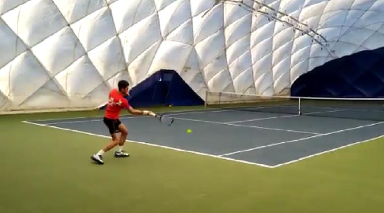 [VÍDEO] Djokovic treina a alta intensidade em Belgrado