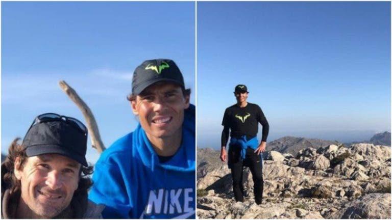 Rafael Nadal subiu às montanhas com o seu treinador Carlos Moya