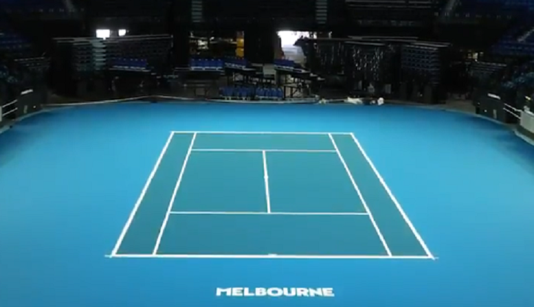 [VÍDEO] Rod Laver Arena já está pronta para o Australian Open